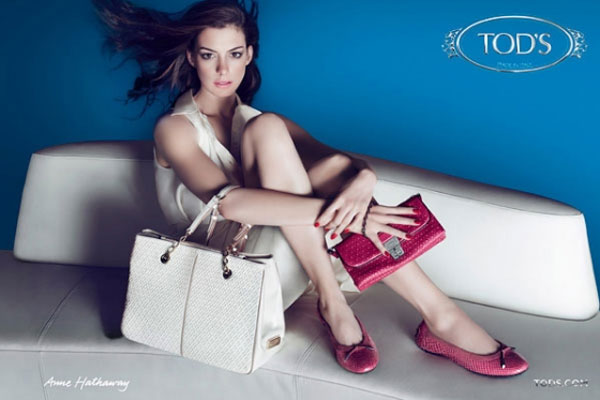 Anne Hathaway Tod's celebrity endorsement ads