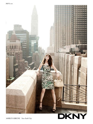 Ashley Greene DKNY celebrity endorsement ads