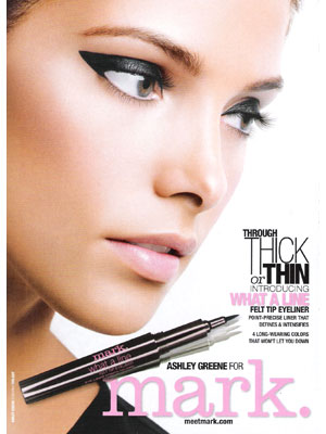 Ashley Greene Mark by Avon beauty products celebrity endorsements