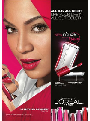 Beyonce Loreal 2013 beauty ads