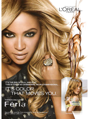 Beyonce Knowles L'Oreal beauty celebrity endorsements