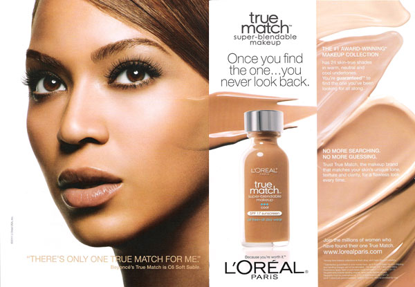 Beyonce Knowles Loreal celebrity endorsements