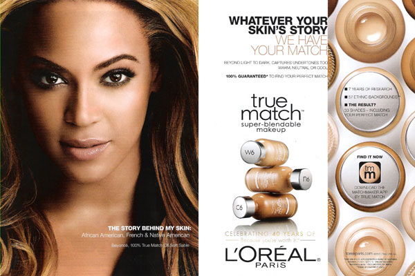 Beyonce L'Oreal True Match celebrity endorsements