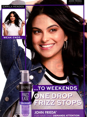 Camila Mendes John Frieda Celebrity Endorsements