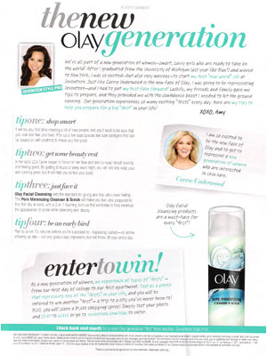 Carrie Underwood for Olay celebrity beauty endorsements