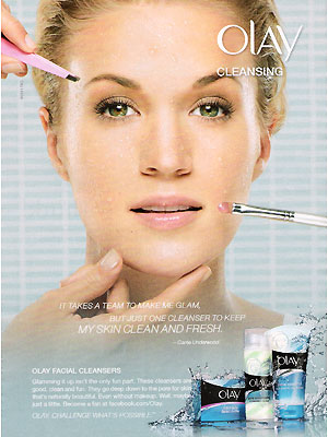 Carrie Underwood Olay Cleansers celebrity endorsements