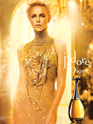 Charlize Theron Dior J'adore perfume celebrity endorsements