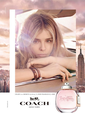 Chloe Grace Moretz Coach celeb fragrance ads