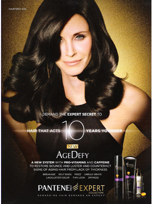 Courteney Cox Pantene celebrity endorsement ads