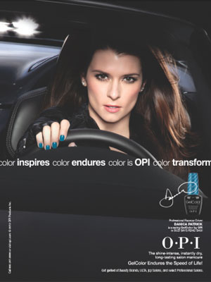 Danica Patrick OPI GelColor celebrity endorsement ads
