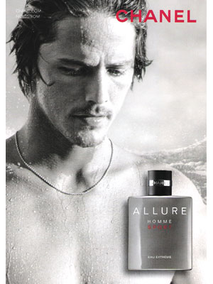 Danny Fuller Chanel cologne celebrity endorsement ads
