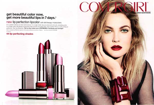 Drew Barrymore CoverGirl celebrity endorsements