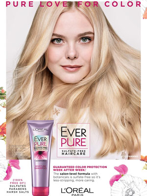 Elle Fanning L'Oreal Celebrity Beauty Ads