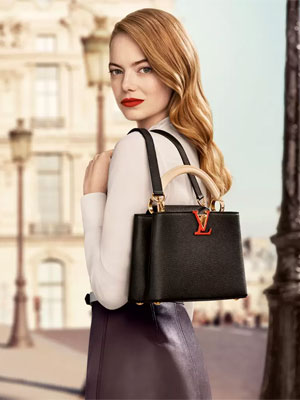 Emma Stone Louis Vuitton ad celebrity endorsements