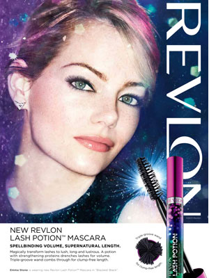 Revlon Emma Stone ads celebrity beauty