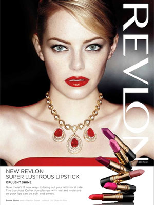 Emme Stone Revlon celebrity endorsement ads