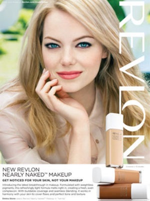Emma Stone Revlon makeup ads celebrity endorsements