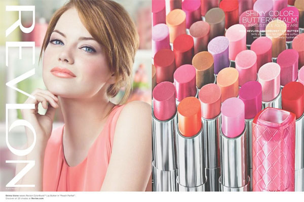 Emma Stone Revlon celebrity endorsement ads