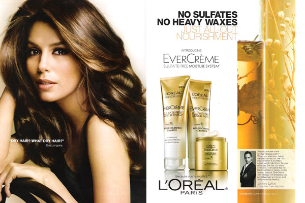 Eva Longoria Loreal celebrity endorsement ads