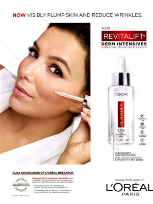 Eva Longoria L'Oreal Celebrity Beauty Ads