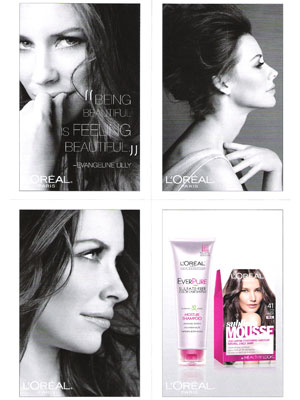 Evangeline Lilly L'Oreal beauty celebrity endorsements