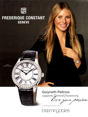 Gwyneth Paltrow Frederique Constant Ads