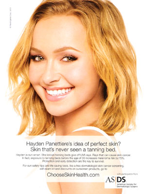 Hayden Panettiere celebrity endorsement ads