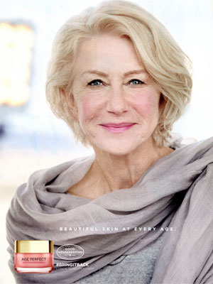 Helen Mirren L'Oreal Beauty Advertisements