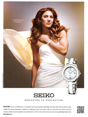 Hope Solo Seiko celebrity endorsements