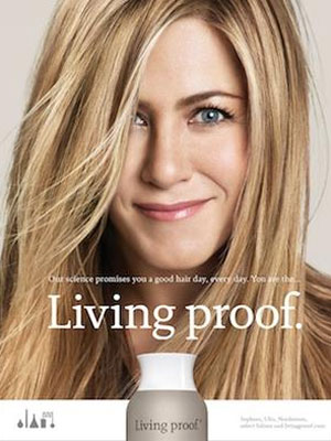 Jennifer Aniston Living Proof celebrity endorsements