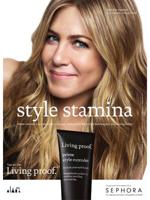Jennifer Aniston Living Proof celebrity beauty