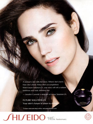 Jennifer Connelly Shiseido celebrity endorsements
