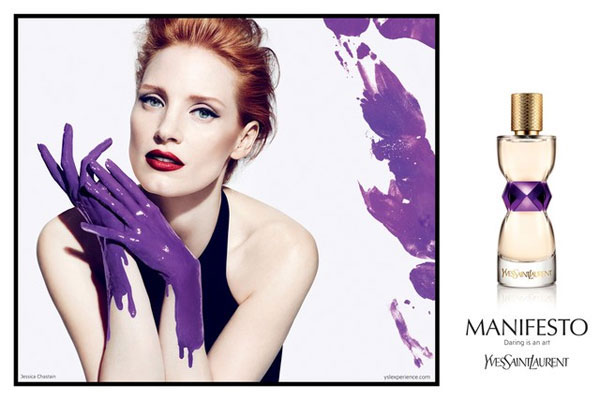 Jessica Chastain YSL celebrity endorsement ads