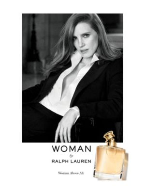 Jessica Chastain Ralph Lauren Perfume Advertisements