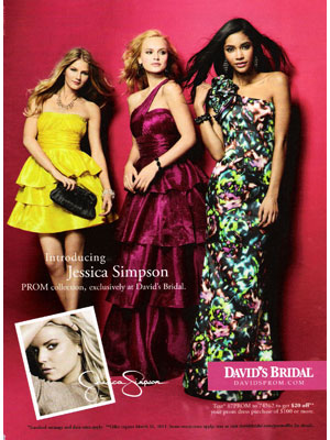 Jessica Simpson for Jessica Simpson Prom collection celebrity fashions
