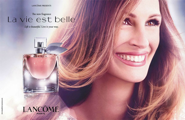 Julia Roberts Lancome La Vie Est Belle perfume celebrity endorsements
