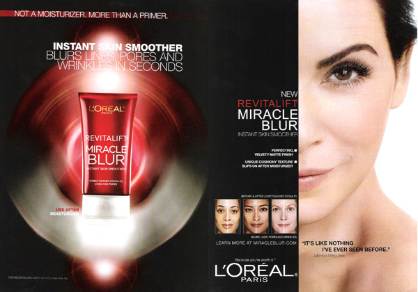 Julianna Margulies L'Oreal celebrity endorsement adverts