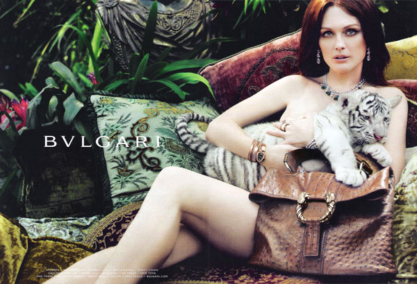 Julianne Moore for Bulgari Spring fashions celebrity endorsements