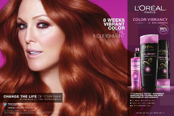 Julianne Moore L'Oreal Paris celebrity beauty ads