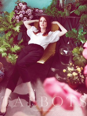 Julianne Moore for Talbots Spring fashions celebrity endorsements