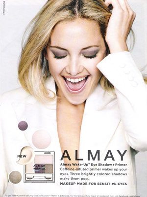 Kate Hudson Almay celebrity endorsement adverts