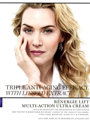 Kate Winslet Lancome Skincare Celebrity Ads