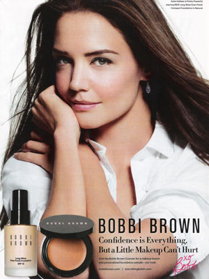 Katie Holmes Bobbi Brown celebrity endorsement ads