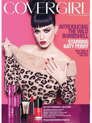 Katy Perry CoverGirl celebrity beauty advertisements