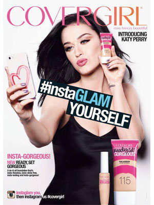 Katy Perry CoverGirl celebrity beauty