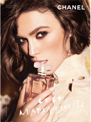 Keira Knightley Chanel celebrity endorsement ads
