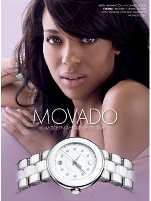 Kerry Washington Movado celebrity endorsements