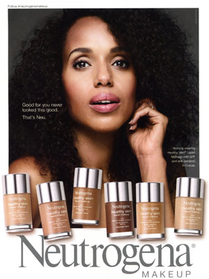 Kerry Washington Neutrogena Celebrity Ads