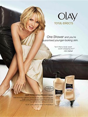 Kim Cattrall Olay Total Effects celebrity endorsements
