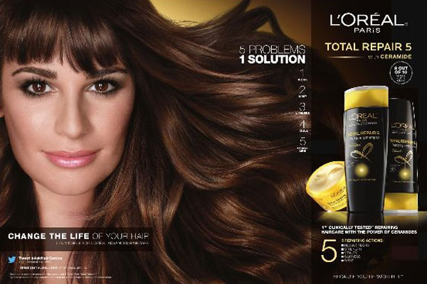 Lea Michele L'Oreal Paris celebrity beauty